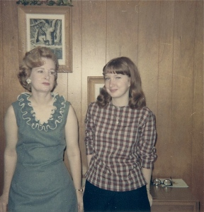 My favorite picture of my mother and me.  Click to enlarge.