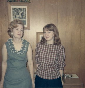 My favorite picture of me and my mother and me.  Click to enlarge.