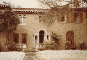 Our first Texas home with a light dusting of snow.