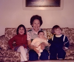 My grandmother and our three children, 1979.