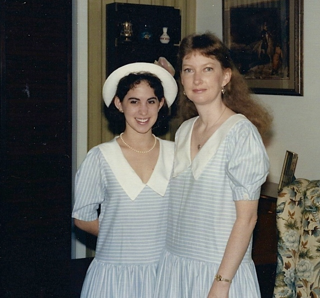 My daughter and me.  In this picture, I was the age my daughter is now, and she was the age her daughter is now.