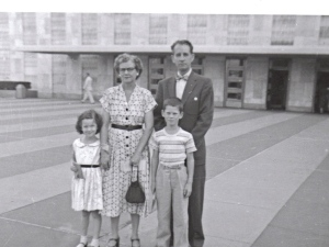 With my grandparents and brother at the United Nations, about 1956