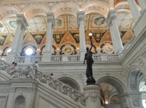 Inside the Library of Congress. Click to enlarge.